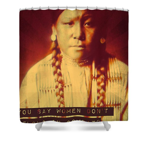Buffalo Calf Road Woman Shower Curtain by Michelle Dallocchio