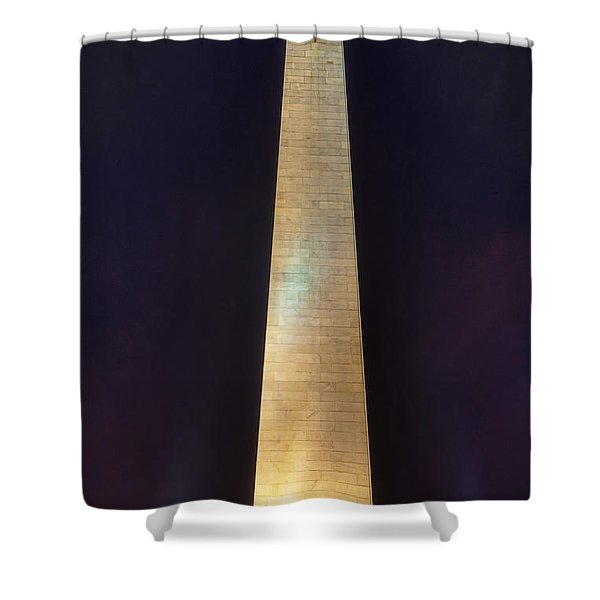 Bunker Hill Monument Shower Curtain by Joann Vitali