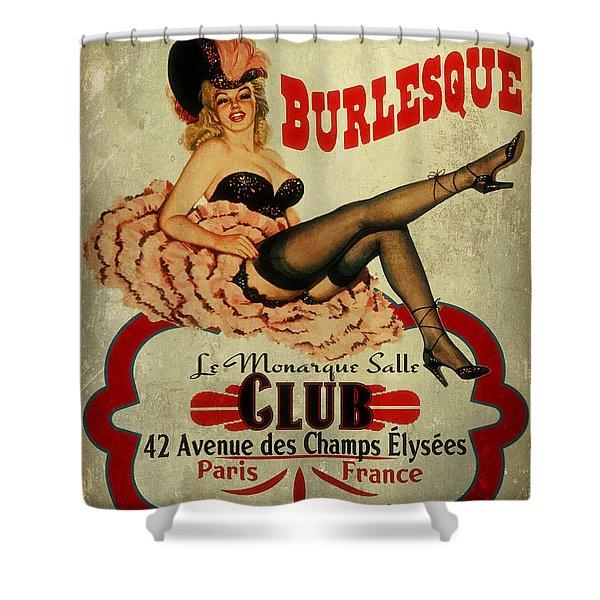Burlesque Club Shower Curtain by Cinema Photography