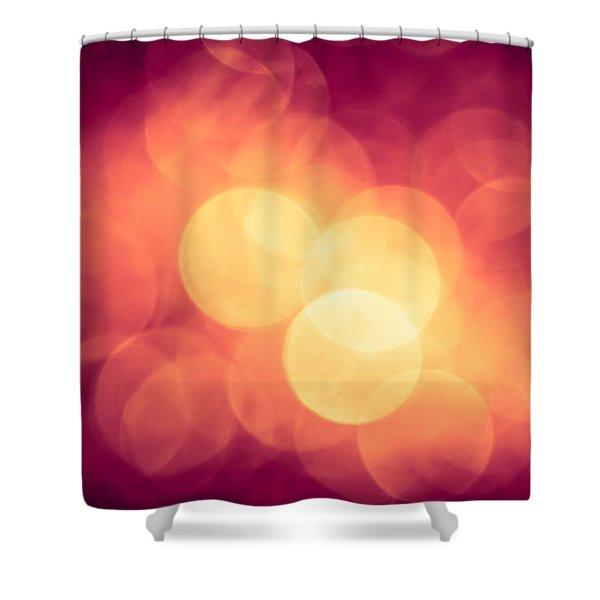 Burning Bokeh Shower Curtain by Jan Bickerton
