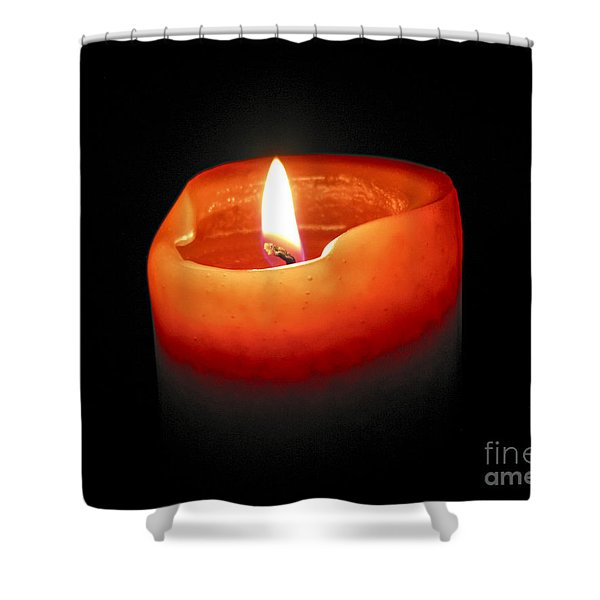 Burning Candle Shower Curtain by Elena Elisseeva