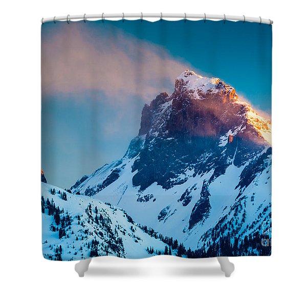 Burning Peak Shower Curtain by Inge Johnsson