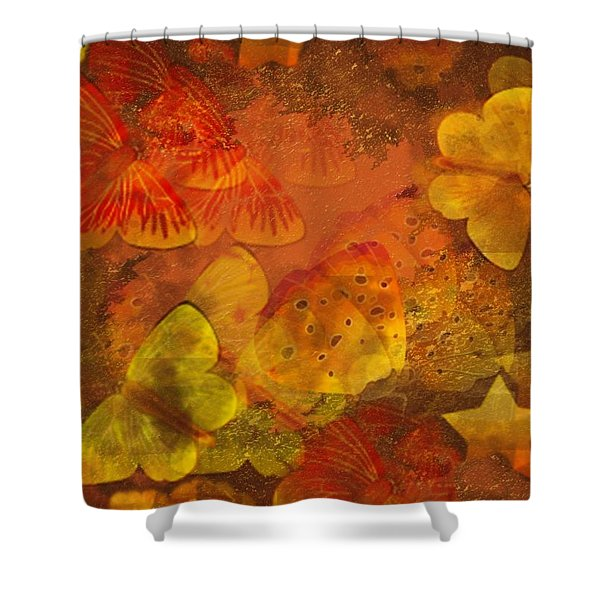 Butterfly Abstract 2 Shower Curtain by David Dehner