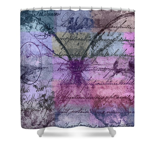 Butterfly Art - ab25a Shower Curtain by Variance Collections