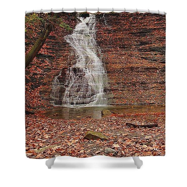 Buttermilk Falls Shower Curtain by Marcia Colelli