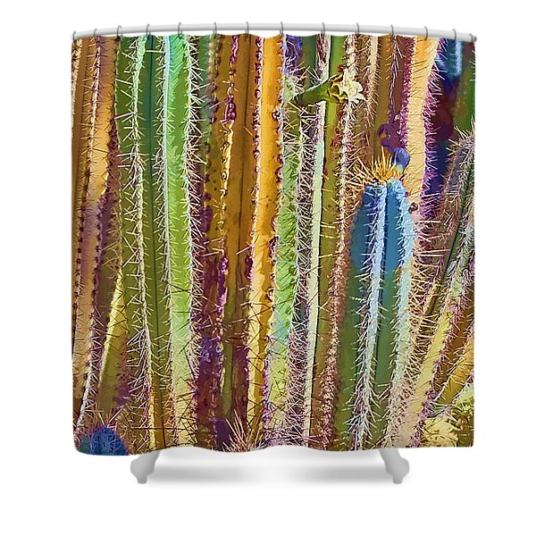 Cactus Shower Curtain by Marcia Colelli