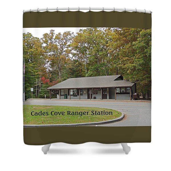 Cades Cove Ranger Station Shower Curtain by Marian Bell