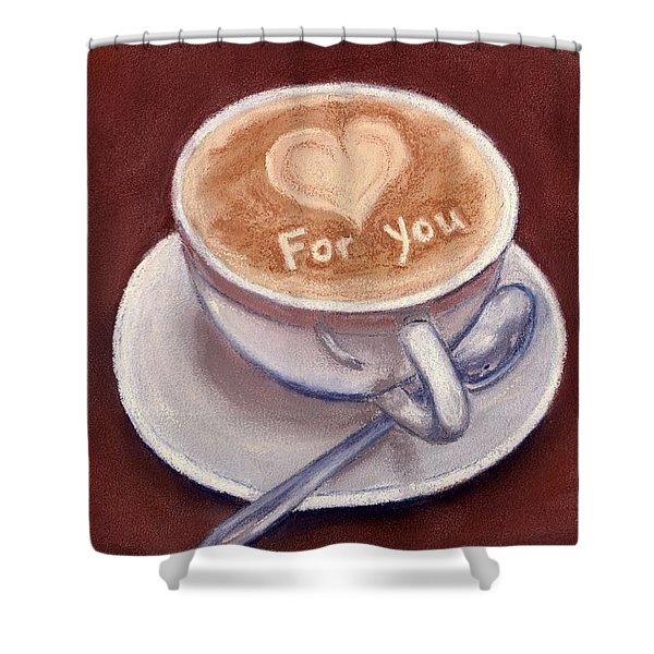 Caffe Latte Shower Curtain by Anastasiya Malakhova