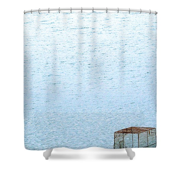 Caged Expanse Shower Curtain by Justin Woodhouse