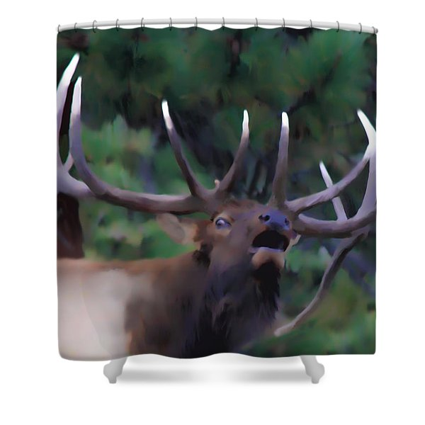 Call of the Wild Shower Curtain by Shane Bechler