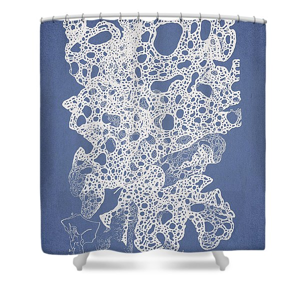 Callymenia cribrosa Shower Curtain by Aged Pixel