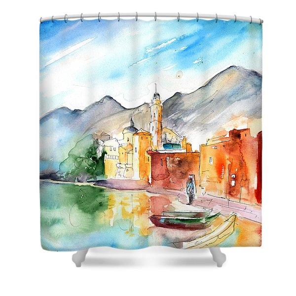Camogli In Italy 11 Shower Curtain by Miki De Goodaboom