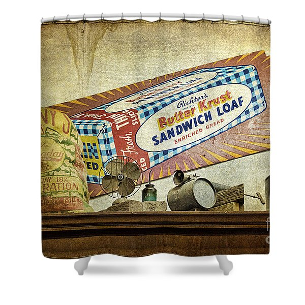 Camp Verde Texas General Store Shower Curtain by Priscilla Burgers