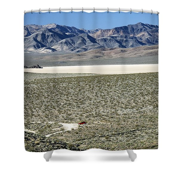 Camped At The End Of The Road Shower Curtain by Joe Schofield