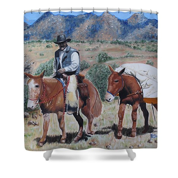 Camping Shower Curtain by Kume Bryant