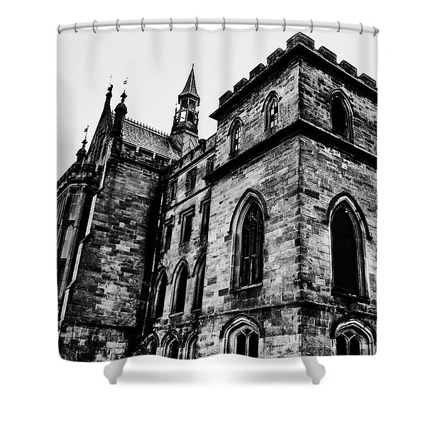 Can You Hear Me Shower Curtain by Michael Braham