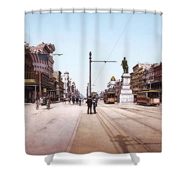 Canal Street New Orleans 1900 Shower Curtain by Unknown