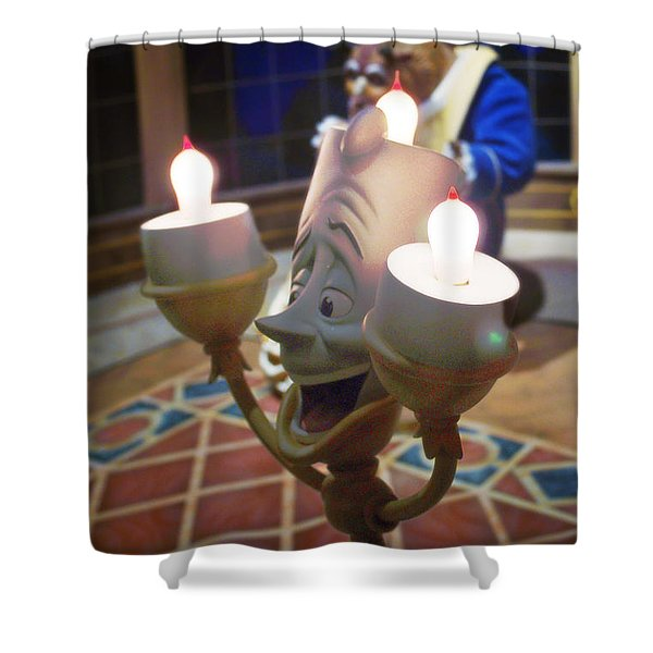 Candle light Shower Curtain by Ryan Crane