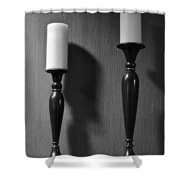 Candlestick Shower Curtain by Frozen in Time Fine Art Photography