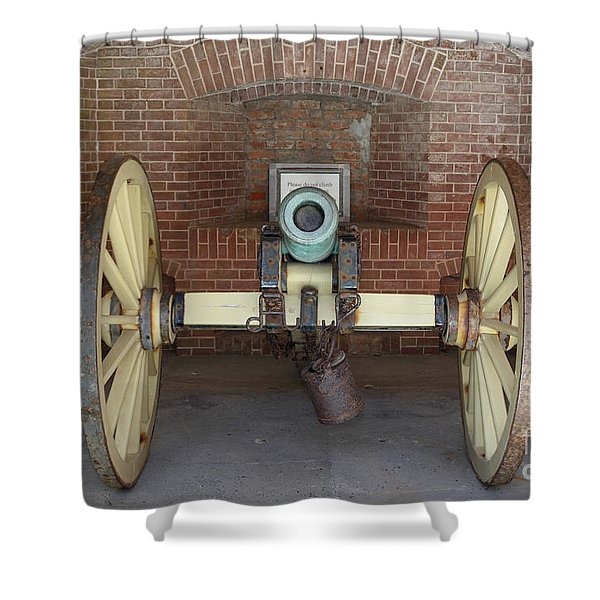 Cannon At San Francisco Fort Point 5d21490 Shower Curtain by Wingsdomain Art and Photography