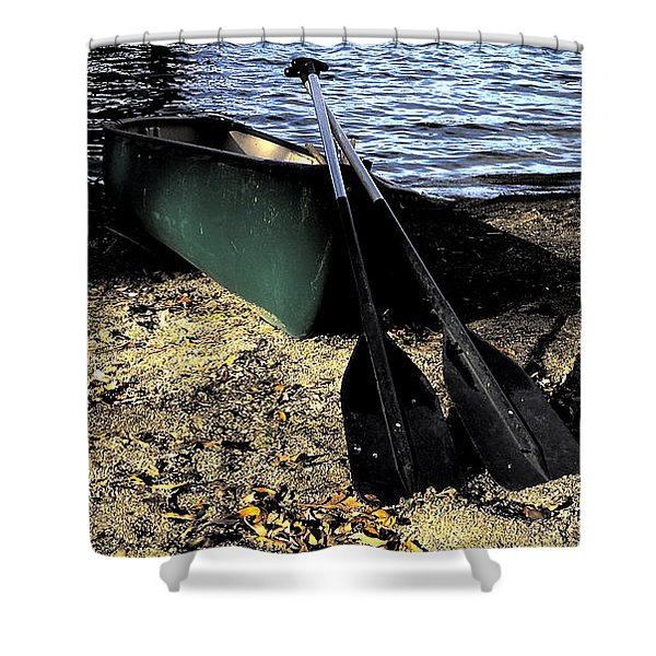 Canoe Shower Curtain by Cheryl Young