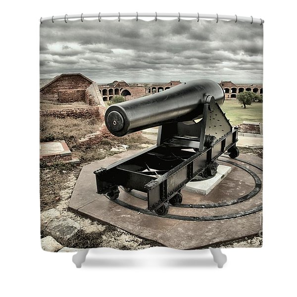 Canon Fire 360 Shower Curtain by Adam Jewell