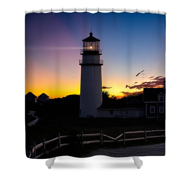 Cape Cod Light Square Shower Curtain by Bill  Wakeley