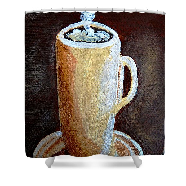 Cappuccino 3 Shower Curtain by Christine Huwer