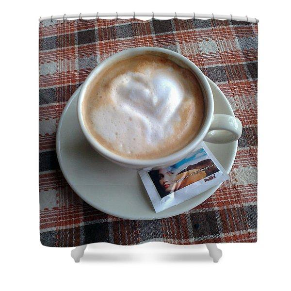 Cappuccino Love Shower Curtain by Ausra Paulauskaite