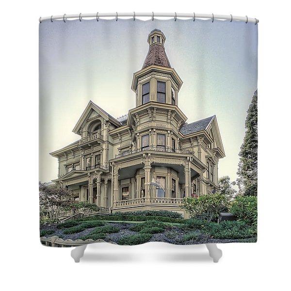 Captain George Flavel Victorian House - ASTORIA OREGON Shower Curtain by Daniel Hagerman