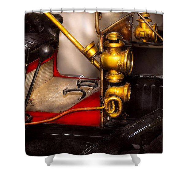 Car - Model T Ford  Shower Curtain by Mike Savad