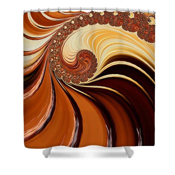 Caramel  Shower Curtain by Heidi Smith