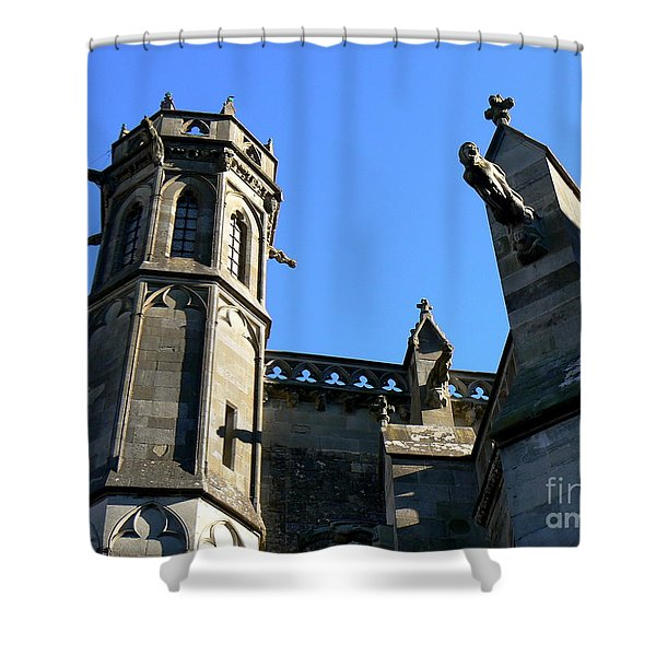 Carcassonne's Cathedral Shower Curtain by FRANCE  ART