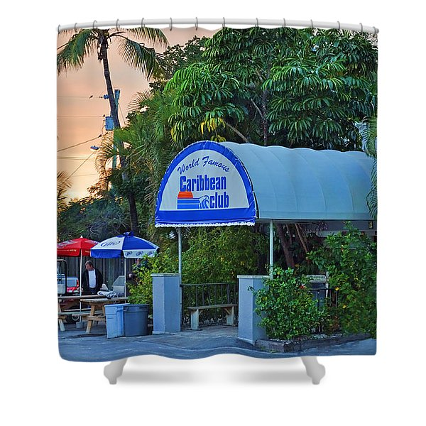 Caribbean Club Key Largo Shower Curtain by Chris Thaxter