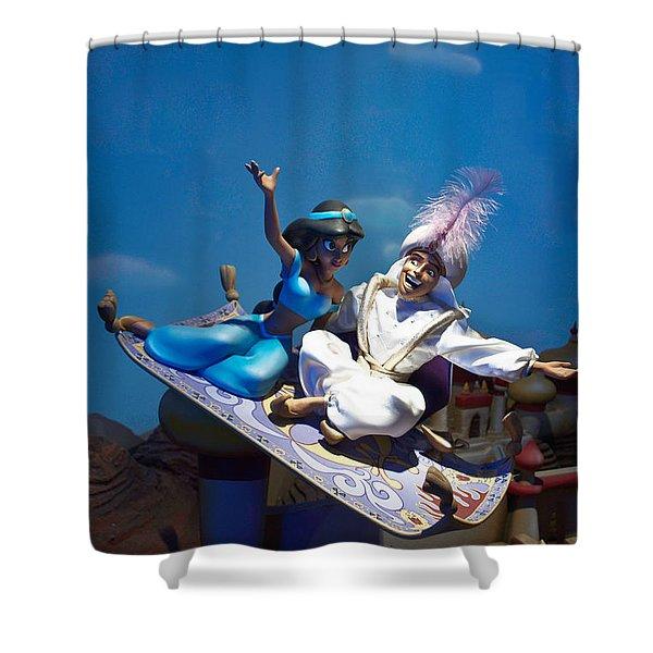 Carpet Ride Shower Curtain by Ryan Crane