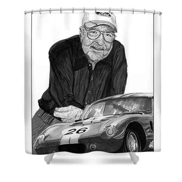 Carroll Shelby    Rest in peace Shower Curtain by Jack Pumphrey