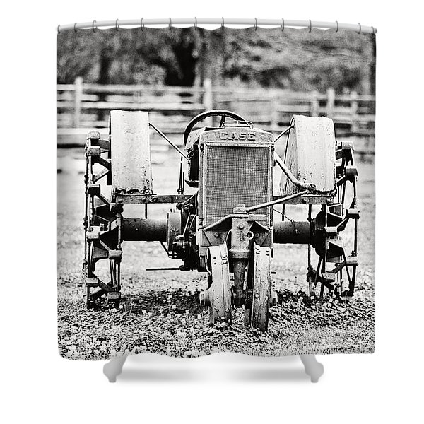 Case Tractor Shower Curtain by Scott Pellegrin