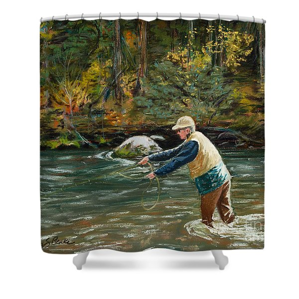 Cast Away Shower Curtain by Mary Benke