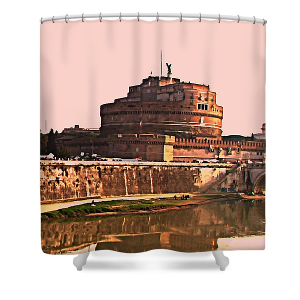 Castel Sant 'Angelo Shower Curtain by BRIAN REAVES