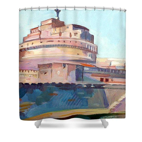 Castel Sant' Angelo Shower Curtain by Filip Mihail