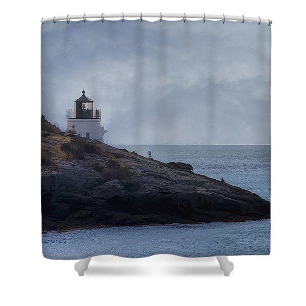 Castle Hill Dream Shower Curtain by Joan Carroll