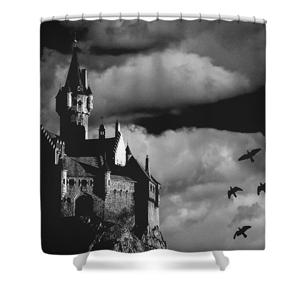 Castle in the sky Shower Curtain by Bob Orsillo