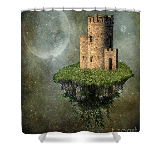 Castle in the Sky Shower Curtain by Juli Scalzi