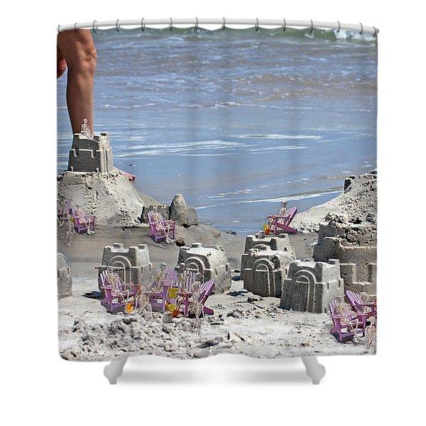Castle Kingdom  Shower Curtain by Betsy C  Knapp