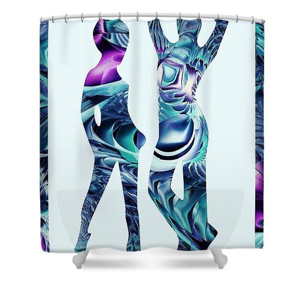 Casual Shower Curtain by Anastasiya Malakhova