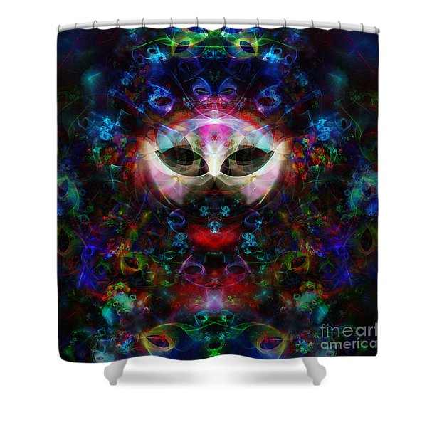 Cat Carnival Shower Curtain by Klara Acel