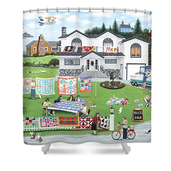 Cat Lovers Society  Shower Curtain by Wilfrido Limvalencia