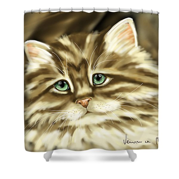 Cat Shower Curtain by Veronica Minozzi