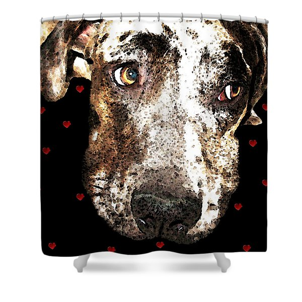 Catahoula Leopard Dog - Lover Shower Curtain by Sharon Cummings
