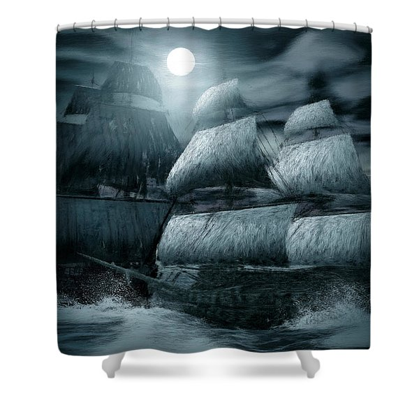 Catastrophic Collision  Shower Curtain by Lourry Legarde